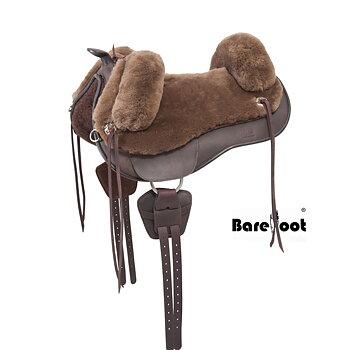 Barefoot® Lazy Mountain med fårskinnssits, brun