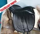 Basic ridpad i läder inkl. renskinn, svart