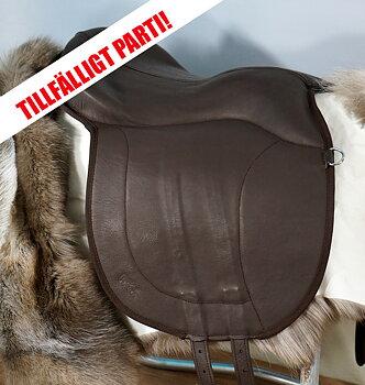 Basic ridpad i läder inkl. renskinn, brun