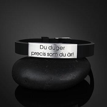 """Armband silikon """"Du duger precis som du är"""""""