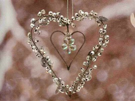 Pärlpaljett hjärta