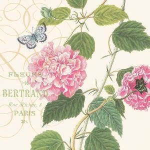 Blomma med fjäril  8207