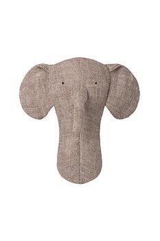 Maileg: Skallra i linne, Elefant