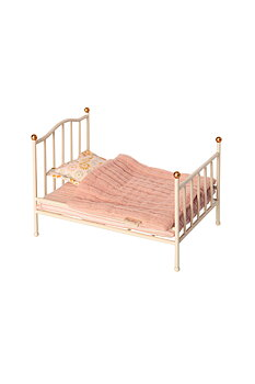 Maileg: Metal bed with bedding, mouse