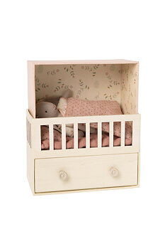 Maileg: Baby with room, Micro bunny pink