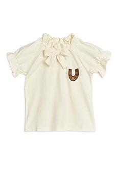 Mini Rodini: Horseshoe jersey blouse, Offwhite