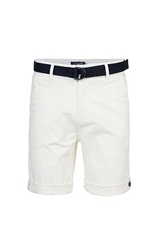 Petrol: Chino shorts with belt