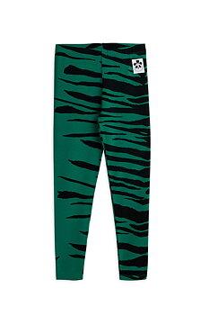 Mini Rodini: Tiger leggings, Green