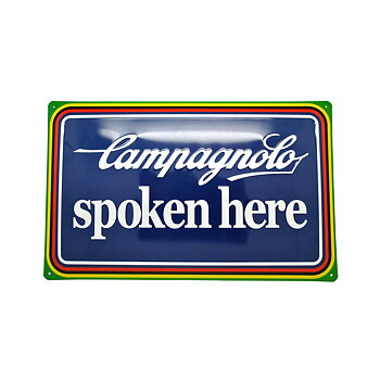 "Campagnolo Tin Plate ""Spoken Here"""