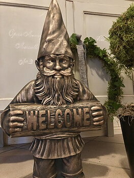 Plastform gjutform stor Tomte Welcome
