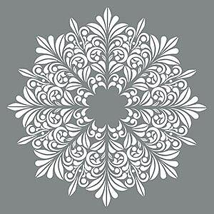 Schablon Fleur Medallion 45,7 x 45,7 cm.