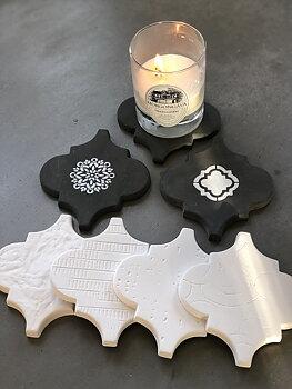 Gjutform plast Marockan tile 5 st