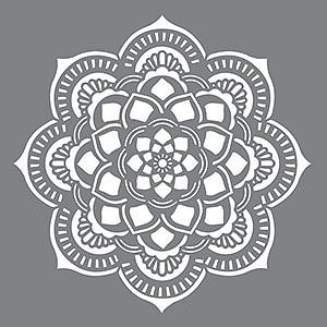Schablon stor Mandala 45,7 x 45,7 cm.