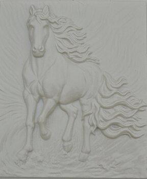 Gjutform Häst- den vita  plasten 0,8mm