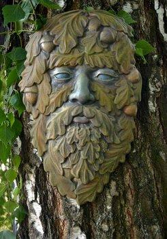 Gjutform ansikte greenman plast ekollon