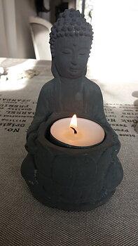 Gjutform,latexform Buddha värmeljus