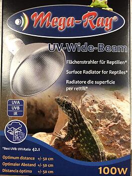 Mega-Ray UV-Widebeam HID 100 W med drivdon multi och lampsockel
