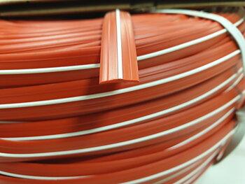 Inläggslist 11mm röd/vit