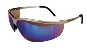 Safety glasses Metaliks sport blue mirror