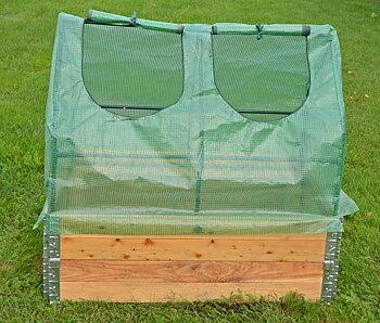 Pallkrageväxthus med armerat plastöverdrag