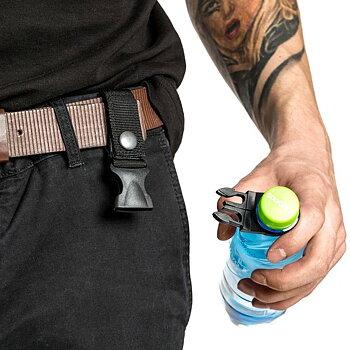 Flaskhållare till bälte för pet-flaskor 2-Pack