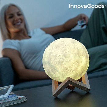 Moonlamp 3D LED Multicolor - Månlampa