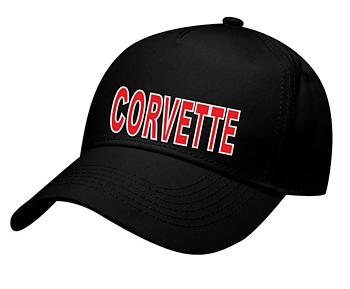 Keps svart  Corvette
