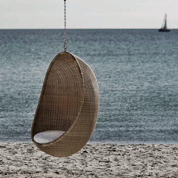 HANGING EGG CHAIR, naturell