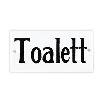 Skylt i Metall Toalett