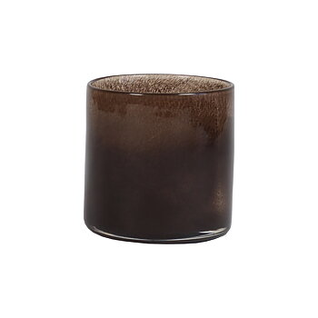 Tell Me More Candleholder Lyric Dark Brown Small