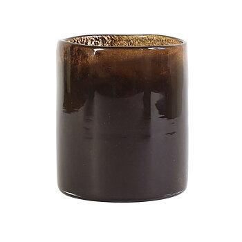 Tell Me More Candleholder Lyric Dark Brown Medium