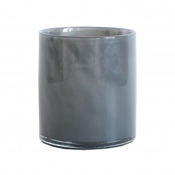 Tell Me More Candleholder Lyric Dark Grey Medium