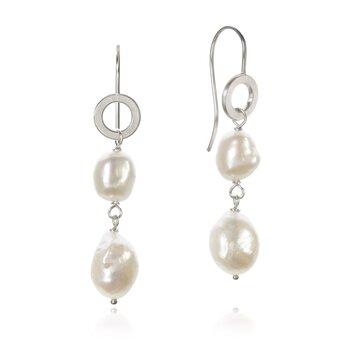 Dulong Ocean Pearl örhänge silver