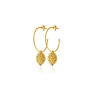 Sophie by Sophie Hedgehog hoops Gold plated silver