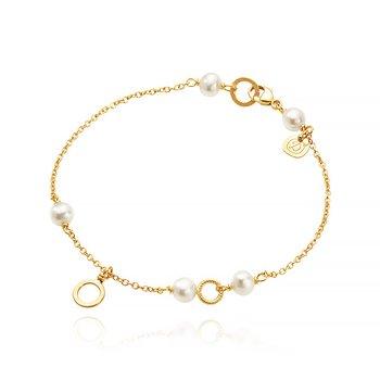 Dulong Piccolo armband 18k guld med sötvattenspärla