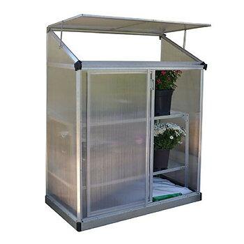 Växthus mot vägg Lean To 0,8 kvm gop