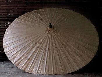 Parasoll diameter 200 cm Nude i bambu