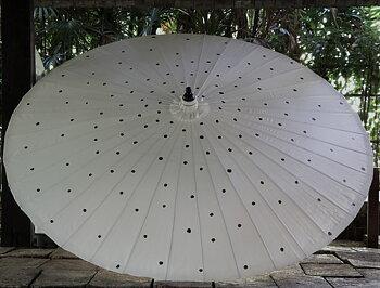 Parasoll diameter 200 cm Dots i bambu
