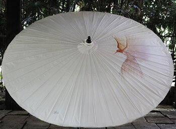 Parasoll diameter 200 cm Butsaba i bambu