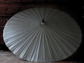 Parasoll diameter 200 cm Grå i bambu