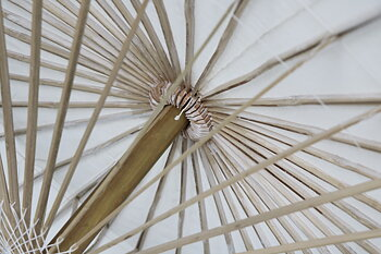 Parasoll diameter 200 cm Rosa i bambu
