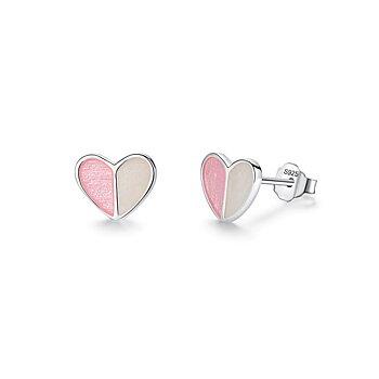 BELAWANG Örhängen äkta silver 925,  Hearts