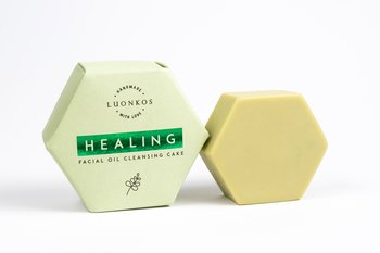 Luonkos Cleansing Cake Healing – Moringa. Unisex, fresh herbal scent