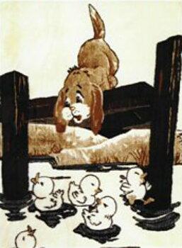 Motivpläd Hund vid ankdamm
