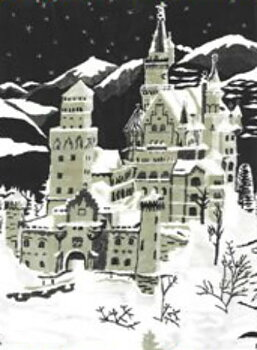 Motivpläd Slottet Neuschwanstein