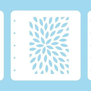 "Layered combi stencil set (set of 3) ""sunburst"" A6."