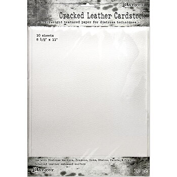 Tim Holtz Distress Cracked Leather Cardstock 10/Pkg