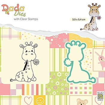 "Die with clear stamps set: animals ""Cute Giraffe"""