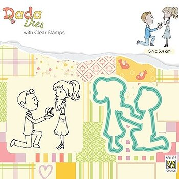 "Die with clear stamps set: Marriage ""Proposal of marriage"""