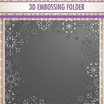 """3D Embossing folder """"Snowflake frame"""""""